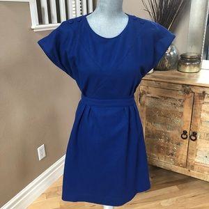 Anthropologie Cobalt Blue Flight Attendant Dress